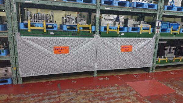 保温シートの製作・取付